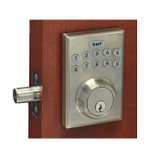 Better Home Products Electronic Keypad Deadbolt. Square Design.  Satin Nickel Finish.  EL20615SN.  Best Price #1 BHP On-line distributor Complete Home Hardware.com