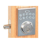 Better Home Products Electronic Keypad Deadbolt. Square Design.  Chrome Finish.  EL20688CH.  Best Price #1 BHP On-line distributor Complete Home Hardware.com