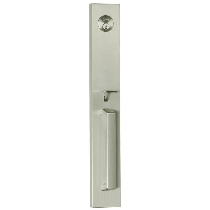 Satin Nickel Delores Park Front Door Entry Handleset By Better Home