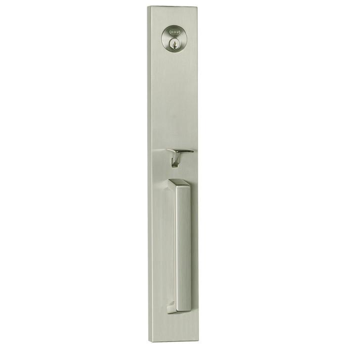 Satin Nickel Delores Park Front Door Entry Handleset By Better Home  Products 60815SN. Sold By