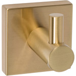 Satin Brass Robe Hook 1100 Series from Delaney Hardware and sold by Complete Home Hardware