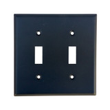Oil Rubbed Bronze Double Toggle Switch Plate Cover