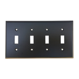 Oil Rubbed Bronze Quad Toggle Switch Plate Cover