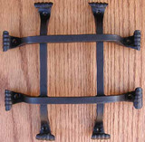 Square Bar Fish Tail Grille- Brown Rust by Agave Ironworks