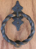 6 Pt Back Twisted Ring KN/PU- Dark Bronze by Agave Ironworks