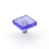 Schaub and Company Pearl Blue Square Cabinet Knob