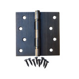"Oil Rubbed Bronze 4"" X 4"" X Square Corner Exterior Door Hinge"