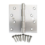 Satin Nickel 4 inch  X 4 Inch X Square Corner Residential Door Hinge