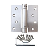 "US15 Satin Nickel 4"" inch X 4"" inch X Square Corner Adjustable, Self-Closing Spring Hinge"