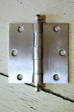 "Satin Nickel 3.5"" X 3.5"" X Square Corner Door Hinge with Ball Tip"