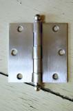 """Satin Nickel 3.5"""" X 3.5"""" X Square Corner Door Hinge with Ball Tip"""