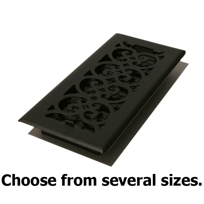 Cast Iron Look Black Floor Register Vent Covers By Decor