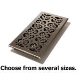Satin Nickel Decor Steel Floor Register