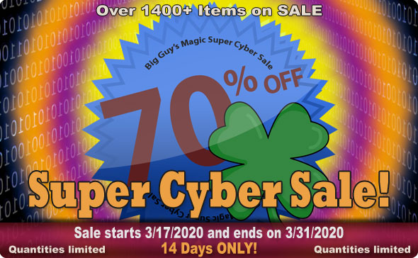 Big Guy's MARCH 2020 Super Cyber Sale! 70% Off Select Items