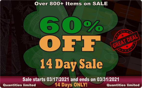Big Guy's St. Paddy's 14 Day Sale 2021