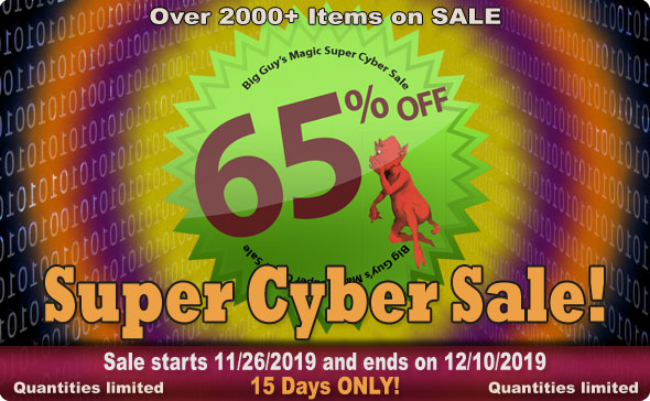 Big Guy's Nov 2019 Super Cyber Sale! 65% Off Select Items