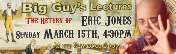 Eric Jones Lecture