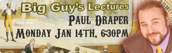 Paul Draper Lecture