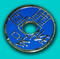 Chinese Coin - Blue