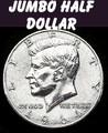 Jumbo Half Dollar, Metal 3 inch