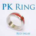 PK Ring - Inlay RED, Deluxe - Medium