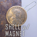 Magnetic Shell Dollar Sacagawea coin