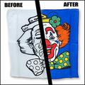Happy / Sad Clown Silk Set (18 inch) Magic by Gosh - Trick