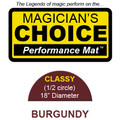 Classy Close-Up Mat (BURGUNDY - 18 inch) by Ronjo - Trick