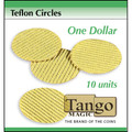 Teflon circles Dollar size (10 units w/DVD) by Tango -Trick (T002)