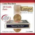 Coins thru Deck 50 cent Euro by Tango - Trick (E0068)