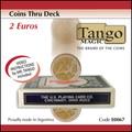 Coins Thru Deck 2 Euro by Tango - Trick (E0067)