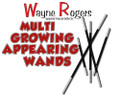Growing & Appearing Wands, Black - W. Rogers
