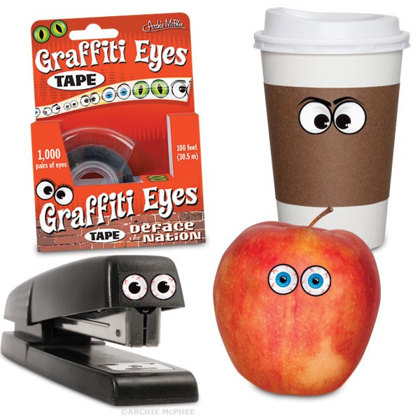e8ac03b405f6 Graffiti Eyes Tape By Archie McPhee   Co - Big Guy s Magic Store
