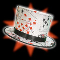 Folding Top Hat - Poker Pattern