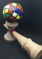 Hand Painted Kendama - Rubrics Cube By-Big Guy's Magic