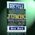 Rising Card Deck, JUMBO Bicycle - Blue
