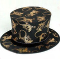 Folding Top Hat - Golden Gecko - Black