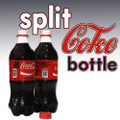 Split Coke Bottle, Plastic - 20oz