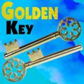 Golden Key - Brass