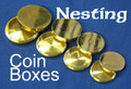 Nesting Coin Boxes - Brass