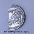 Bite Out Morgan Dollar - Replica