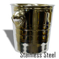 Coin Pail -Stainless Steel