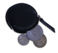 Coin Pouch, Round w/ Zipper