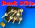 Bank Night Wallet, Zipper w/ Lock & Keys
