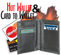 Hot Fire Wallet & Card to Wallet w/ Zipper