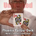 "Parlour Deck UNMARKED (BLUE) Phoenix backs (3 x 4"" / 7,5 x 10 cm)."