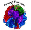 Spring Flowers Mylar, Large 12 Inch