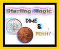 Dime & Penny w/ Bang Ring - Sterling