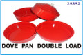 Dove Pan, Double - Red