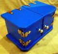 Die Box, Mini - Blue with Long Hinge